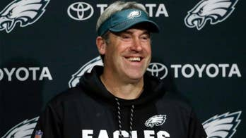 Philadelphia Eagles head coach Doug Pederson will face questions from reporters after President Trump canceled the team's Super Bowl celebration. Bryan Llenas reports on the war of words.