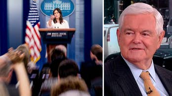 On 'Outnumbered,' the former speaker of the House reacts to the tense exchanges between press secretary Sarah Sanders and reporters.