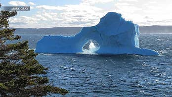 Stunning images of an iceberg off the coast of Canada are going viral
