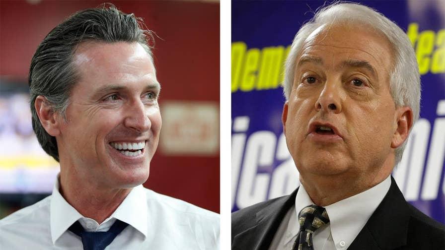 Democrat lieutenant governor and former San Francisco Mayor Gavin Newsom will face Republican businessman John Cox in November.