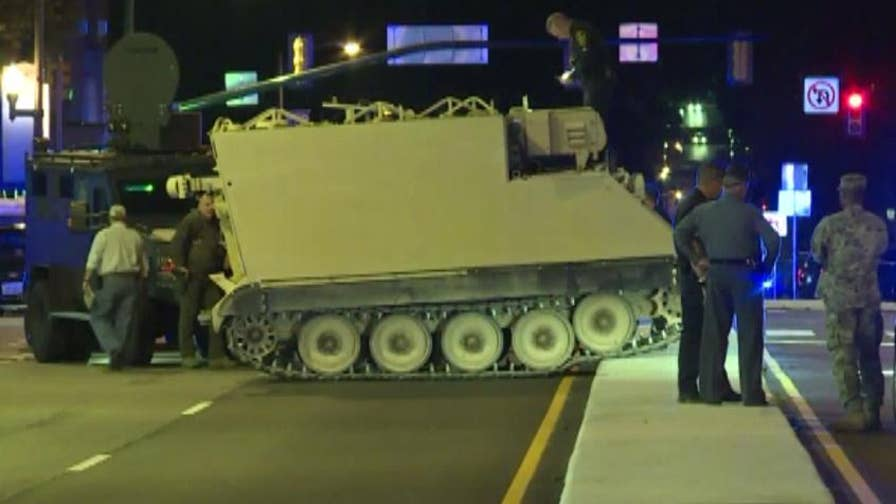 Police chase solider who stole a military vehicle in Virginia for nearly two hours until the man surrendered.