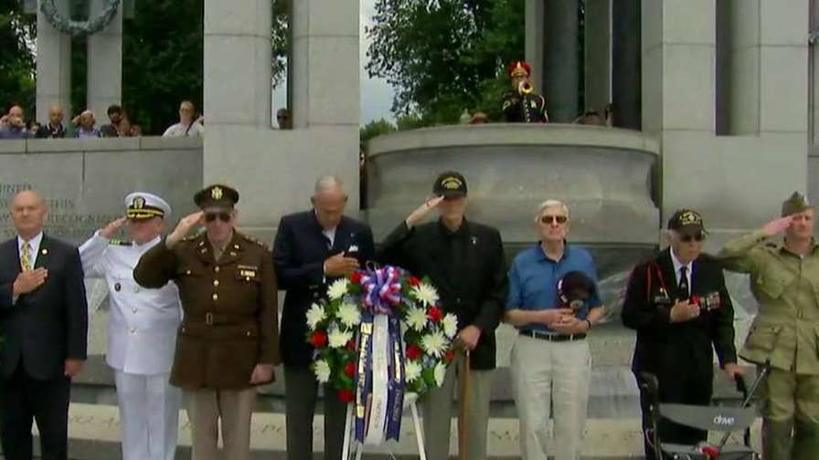 Allied troops stormed Normandy beaches 74 years ago in what is considered the turning point of World War II; national security correspondent Jennifer Griffin reports.