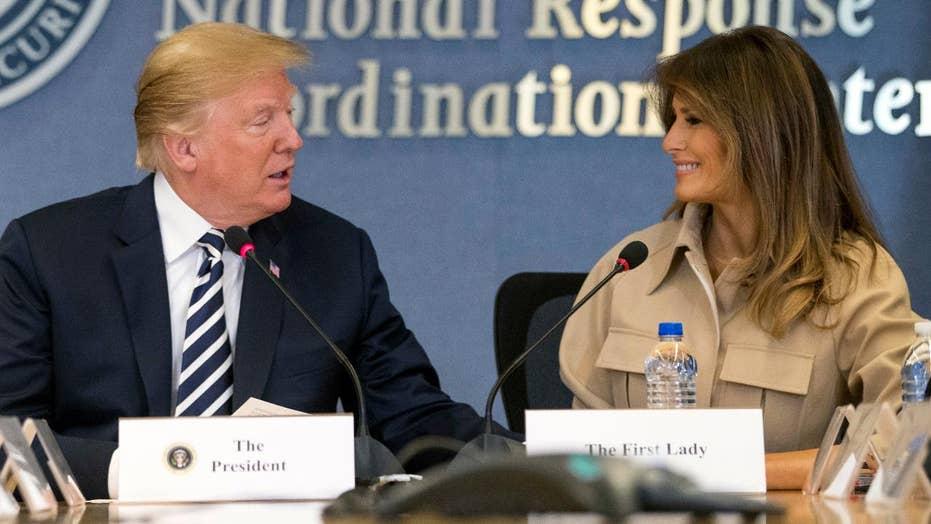 Trump defends Melania against media attacks
