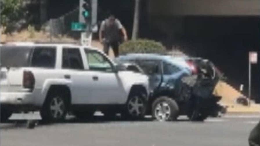 Cell phone video captures chaos in Sacramento, California.