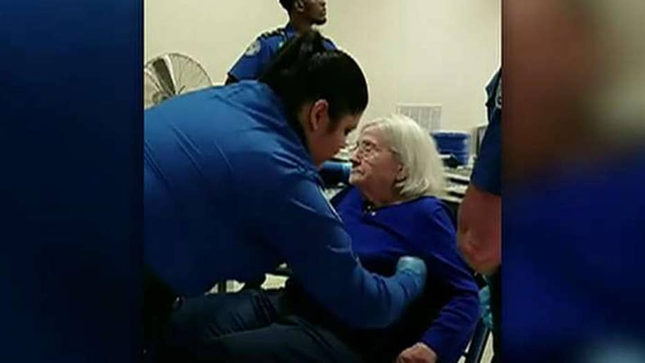 TSA search of elderly woman sparks outrage