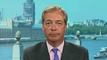 Nigel Farage talks Trump on the world stage