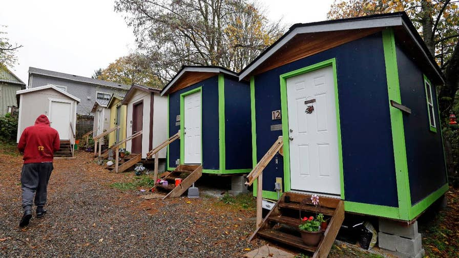 The city of Seattle is deciding if they will renew permit for their controversial shelter experiment, which allows drugs, drinking and other criminal activities; Dan Springer reports from Seattle.