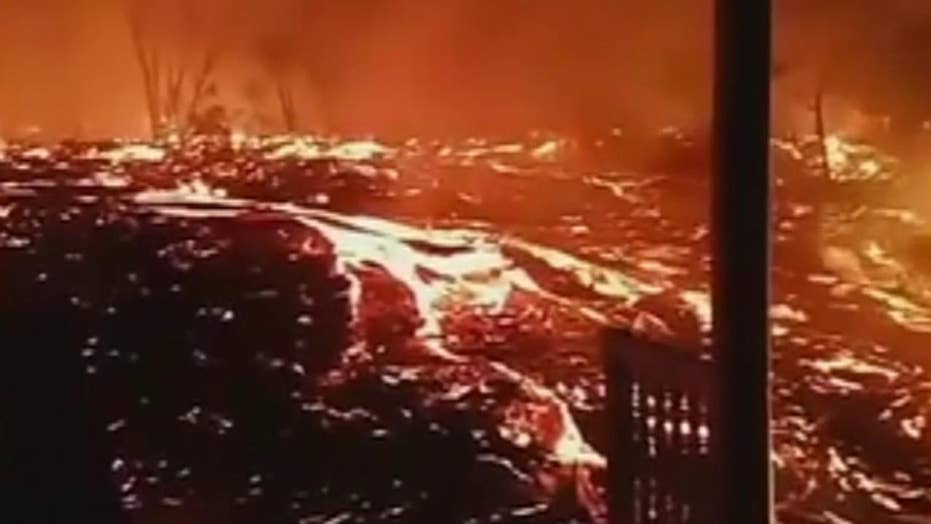 Raw cell phone video of Hawaii lava flow