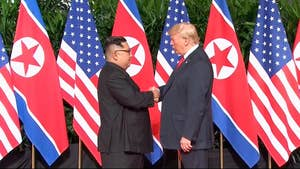 President Trump left Singapore carrying a signed document from Kim Jong Un pledging to work towards complete denuclearization; chief White House correspondent John Roberts reports from Singapore.
