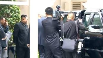 After their historic meeting, President Trump shows North Korean dictator Kim Jong Un a sneak peek inside the presidential limo.