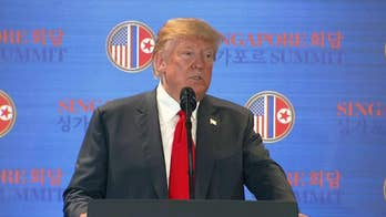 President Trump gives briefing after summit with Kim Jong Un, says the past does not have to define the future, says North Korea agreed to destroy a 'major' missile testing site and the U.S. will stop war games.