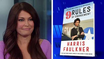 Harris' book '9 Rules of Engagement' pays tribute to her military father.