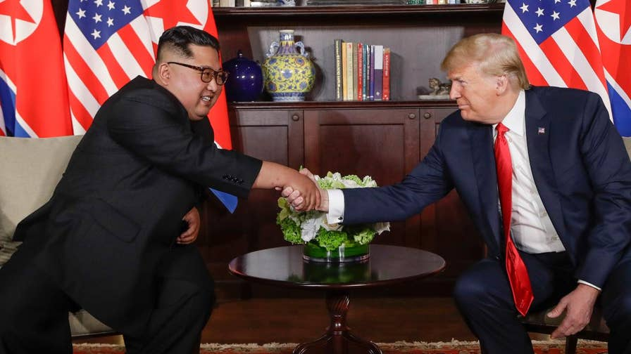 Expanded bilateral meeting between President Trump and Kim Jong Un.