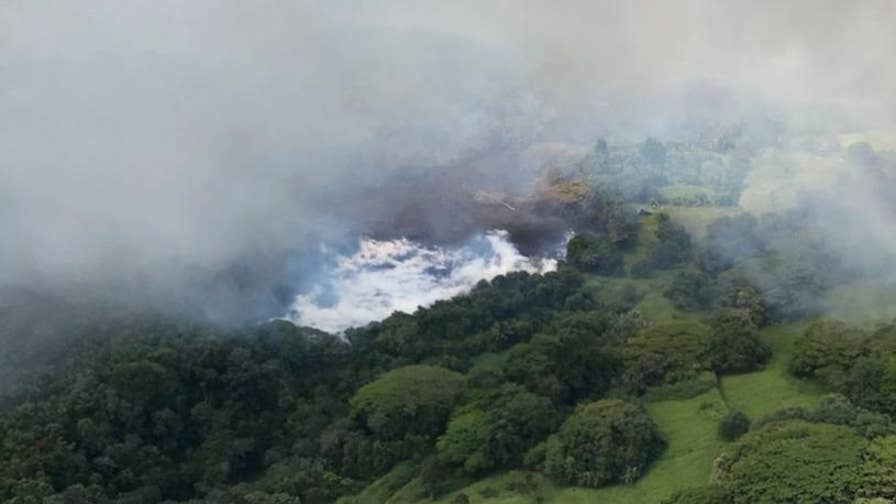 Hawaii's legendary freshwater Green Lake has been completely consumed by lava from the Kilauea volcano in only a matter of hours.