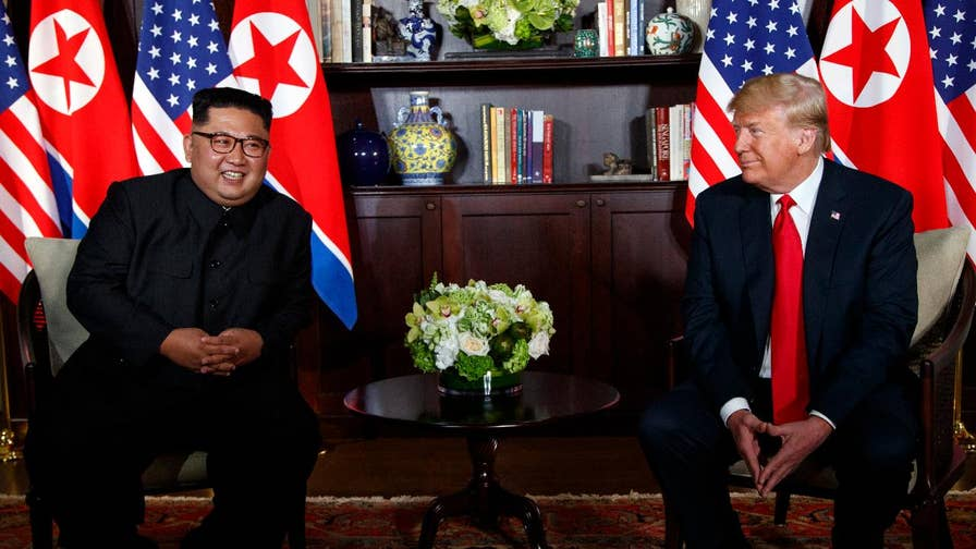 President Trump presented the North Korean dictator with a video during their historic meeting.