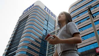 Democrats and Republicans have raised concerns about Chinese company ZTE; Peter Doocy reports on the White House's response.
