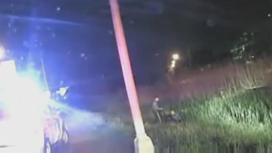 Raw video: Heroic actions of state police officers caught on dashcam in Secaucus.