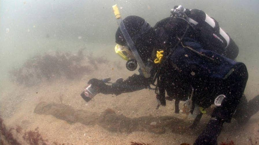 U.K. Divers have uncovered cannons, anchor from a shipwreck of the coast of Cornwall. The wreck is estimated to have carried millions of dollars worth of jewels.
