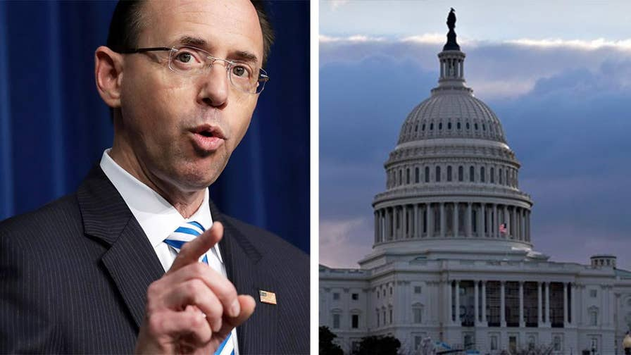 Republican lawmakers respond to allegations that Deputy Attorney General Rod Rosenstein threatened to subpoena records.