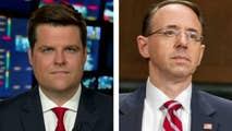 Reps. Jim Jordan, Ron DeSantis and Matt Gaetz discuss, on 'Hannity,' claims that Rod Rosenstein threatened to subpoena records from lawmakers and staff.