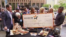 Barbeque restaurant founders reveal the story behind their business model and make a donation to the USO on 'Fox & Friends.'