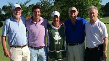 Jesse and his dad team up for the Planting Fields Foundation annual golf classic fundraiser.