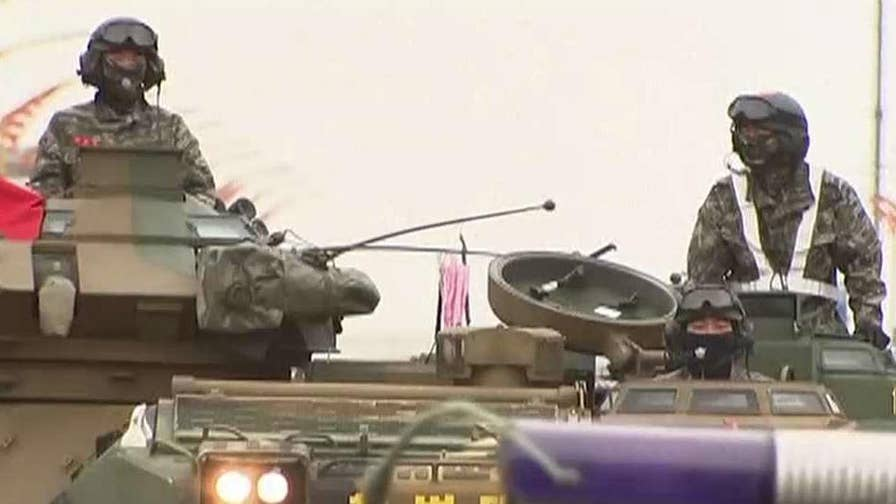 President Trump calls military drills between U.S. and South Korea 'provocative.' Greg Palkot has the story.