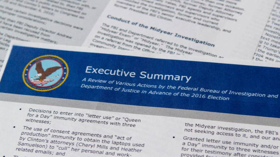 After an 18-month investigation into the FBI and DOJ's Hillary Clinton probe, the highly anticipated report from the Justice Department's Inspector General Michael Horowitz is out. Here's a look at the three biggest takeaways.