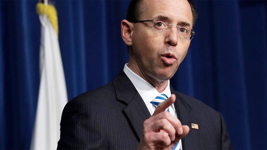 Deputy AG Rosenstein at White House for IG report release