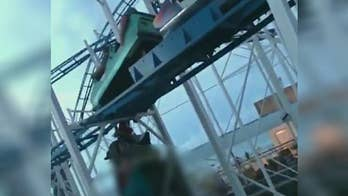 Two people plummeted 34 feet after falling off the ride.