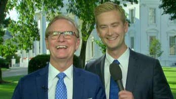 The Fox News reporter surprises his dad on 'Fox & Friends' with a unique gift.