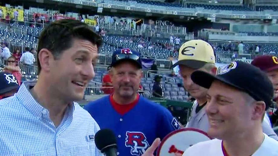 Scalise's return to the baseball field brings emotion, improbable plays