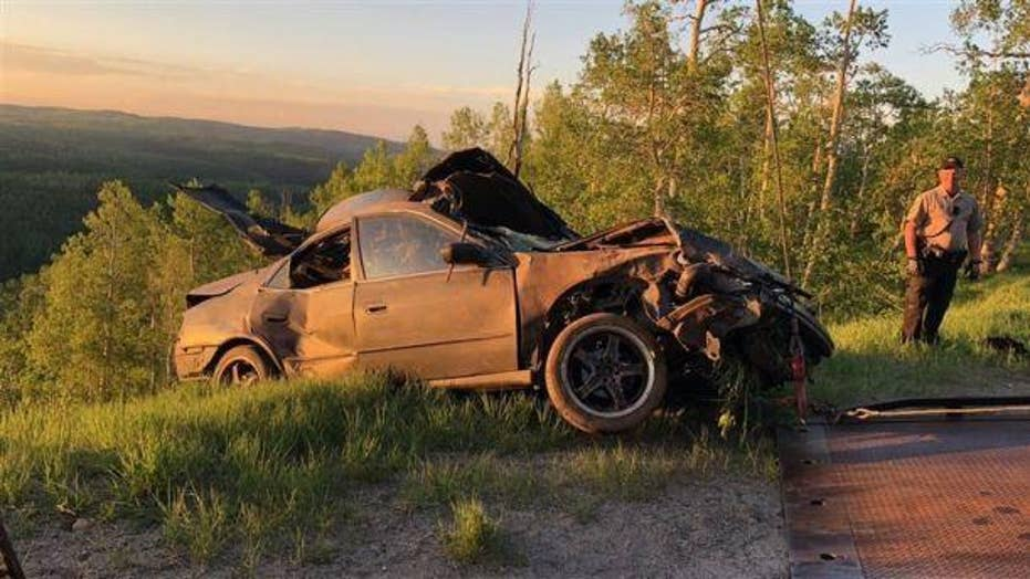 Teens lucky to be alive after dangerous crash off mountain