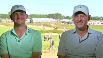 Matt Parziale celebrates Father's Day at the U.S. Open with his father joining him as caddy.