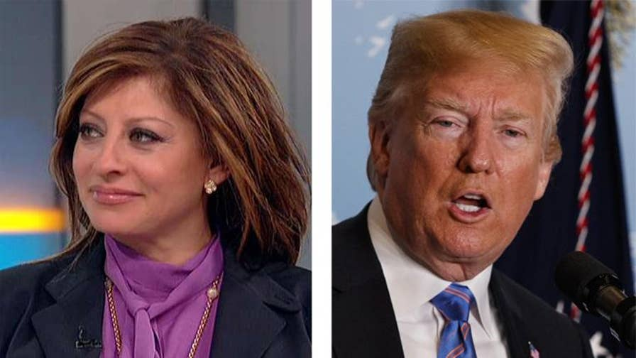 'Sunday Morning Futures' host Maria Bartiromo reacts as Trump touts a strong economy on Twitter.