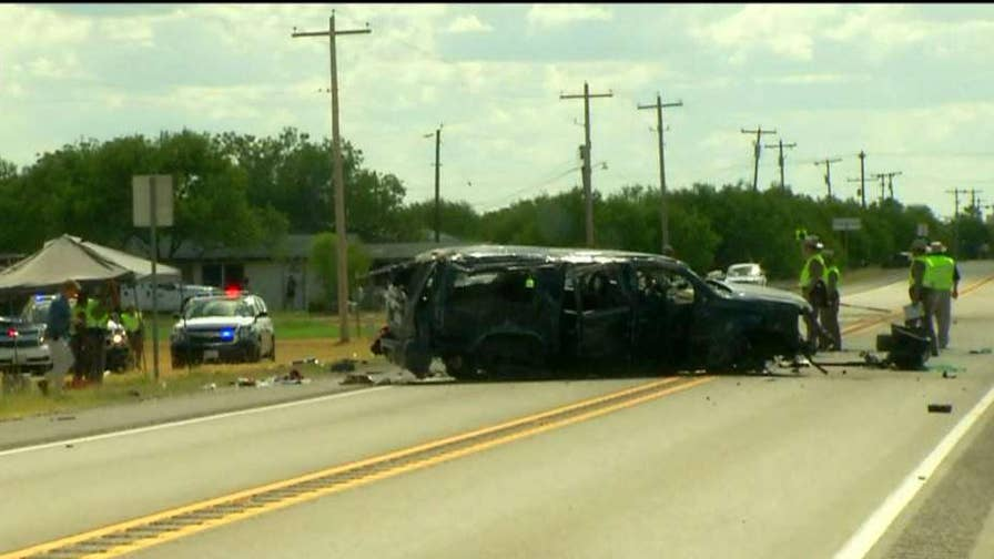 12 immigrants ejected from car after high speed crash on Texas highway, Jeff Paul has more.