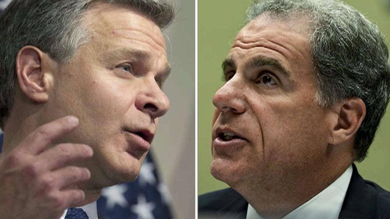 Horowitz, FBI boss Christopher Wray face Senate grilling on bombshell report