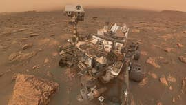 "NASA's Curiosity rover has taken an incredible selfie image during an ""unprecedented"" massive dust storm on Mars."