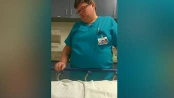 Raw video: Dr. Beth Keegstra, an emergency room doctor in Northern California, questions whether 20-year-old Samuel Bardwell is sick or just looking for drugs.