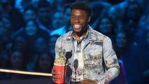 'Black Panther' star acknowledged real-life hero James Shaw Jr. when he accepted his 'Best Hero' award.
