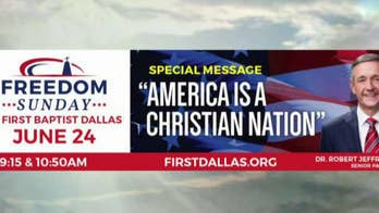 First Baptist Church Pastor Robert Jeffress accuses Dallas Mayor Mike Rawlings of 'hostility' toward the church over the removal of his 'America Is a Christian Nation' billboard.