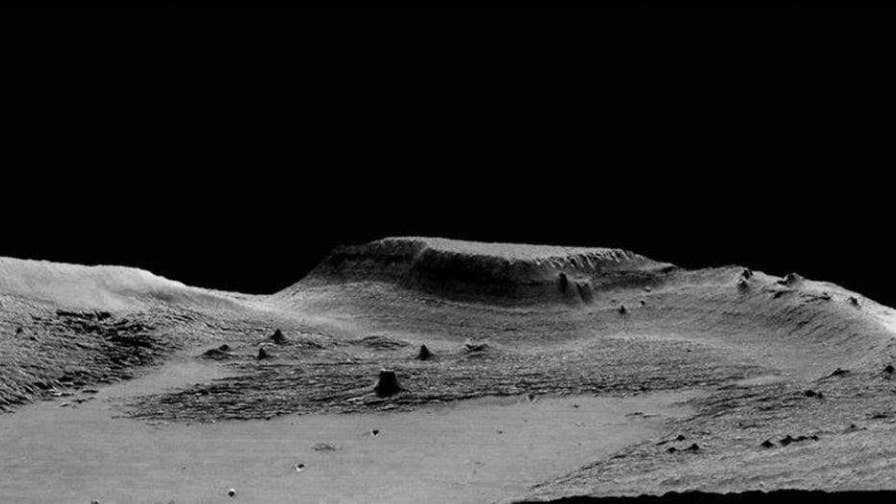 Researchers claim a mysterious Mars rock formation NASA scientists could not explain in the 1960s was likely caused by volcanic activity on the planet billions of years ago.