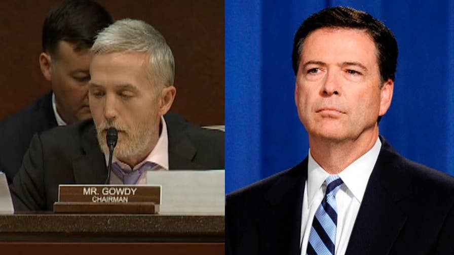 House Oversight Committee Chairman Trey Gowdy slams James Comey in his blistering opening statement during a congressional hearing where he accused the former FBI Director of operating by his own rules.