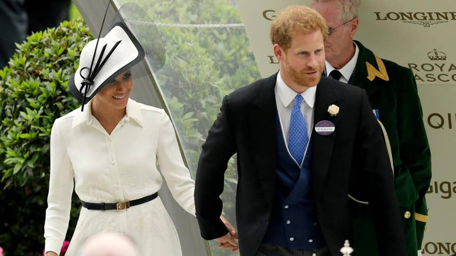 1-month after her royal wedding to Prince Harry, Meghan Markle, the Duchess of Sussex, made her Royal Ascot debut in an elegant white ensemble from her wedding dress designer, Givenchy.