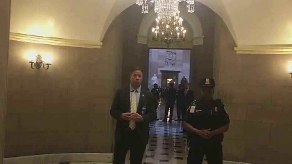 Woman Yells Expletive at Trump Entourage at Capitol