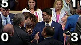 The chairman of the conservative House Freedom Caucus angrily confronted House Speaker Paul Ryan over immigration legislation on the floor of the House of Representatives on Wednesday.