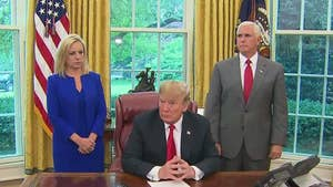 President Trump and Vice President Pence speak after Trump signs executive order to let immigrant families stay together after crossing the U.S. border.