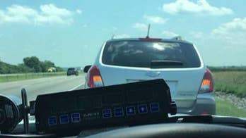 Sgt. Stephen Wheeles cheered for pulling over a slow car driving in the fast lane.