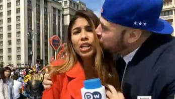 Colombian reporter Julieth Gonzalez was in the middle of a World Cup report in Russia when a man abruptly jumped into her shot and got handsy on live TV. The man jumped into her frame and grabbed her chest while planting a kiss on her cheek.