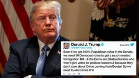 "President Trump threw in the towel Friday with a tweet telling Republicans in Congress to ""stop wasting their time"" on immigration legislation until after the November elections."